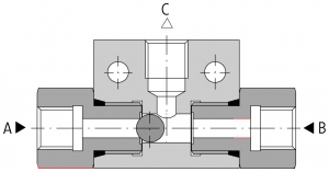 Клапан 'ИЛИ' 3UZZE6 (чертеж) Ponar