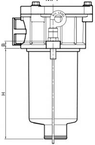 Сливные фильры и фильтроэлемент DPT (чертежи) MP Filtri