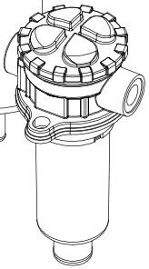 Сливные фильры и фильтроэлемент MPT (чертежи) MP Filtri