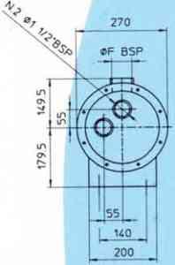 Водяные маслоохладители серия MGB219 EMMEGI