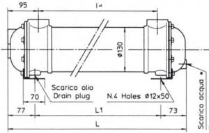Водяные маслоохладители серия MG130 EMMEGI