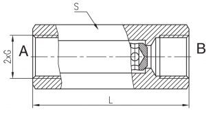 Клапаны обратные, клапаны аварийные и гидрозамки Hidropnevmotehnica