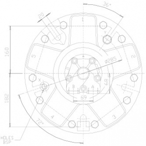 Гидромотор серии gm4 SAI
