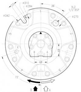 Гидромотор серии gm3 SAI