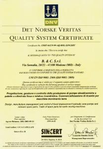 Гидравлические пластинчатые насосы постоянного расхода сертификат B&C