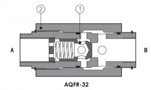 """AQFR ограничители потока, монтаж «в линию», сквозные порты Q=30-250, размер 3/8"""", 1 1/4"""" Atos"""
