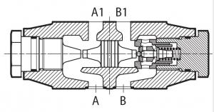 HR, KR модульные обратные клапаны, прямое или пилотное управление Q=60-120, размер 06,10 Atos