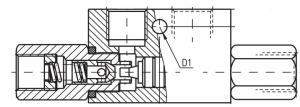 Управляемые обратные клапаны KOHU Pmax=320 bar, Qmax=160 lmin Caproni