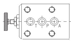 Предохранительные переливные клапаны KPR-10 Р=160 bar, Q=40 lmin Caproni