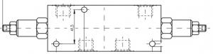 Тормозные (Оверцентер) клапаны OWC6, OWC10 Pmax=250 bar, Qmax=80 lmin Caproni